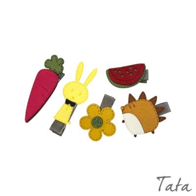 童裝 兔子刺蝟造型髮夾-五入 TATA KIDS
