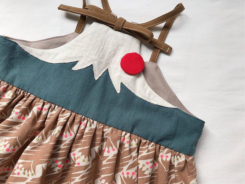 富士山綁帶背心裙