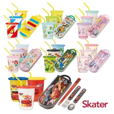 Skater日本製3入水杯(320ml)+三件餐具