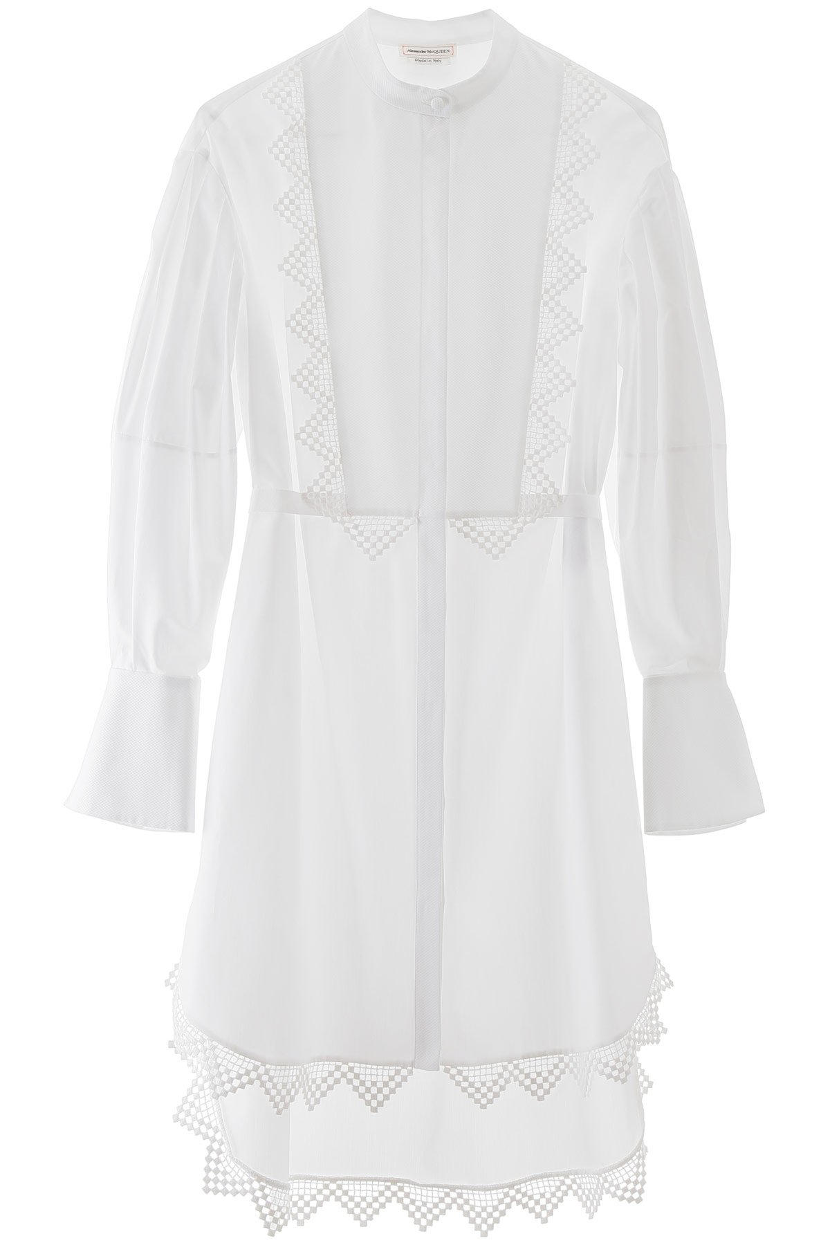 Alexander mcqueen maxi shirt with lace details