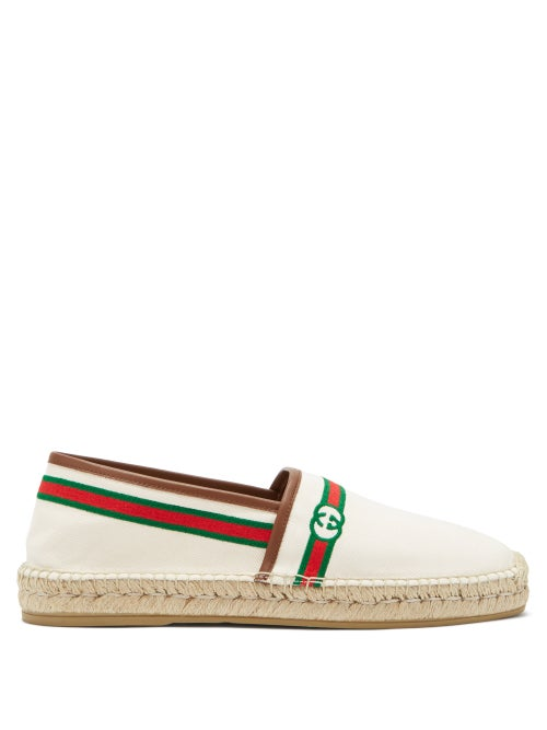 Gucci - GG-embroidered Canvas Espadrilles - Mens - Beige