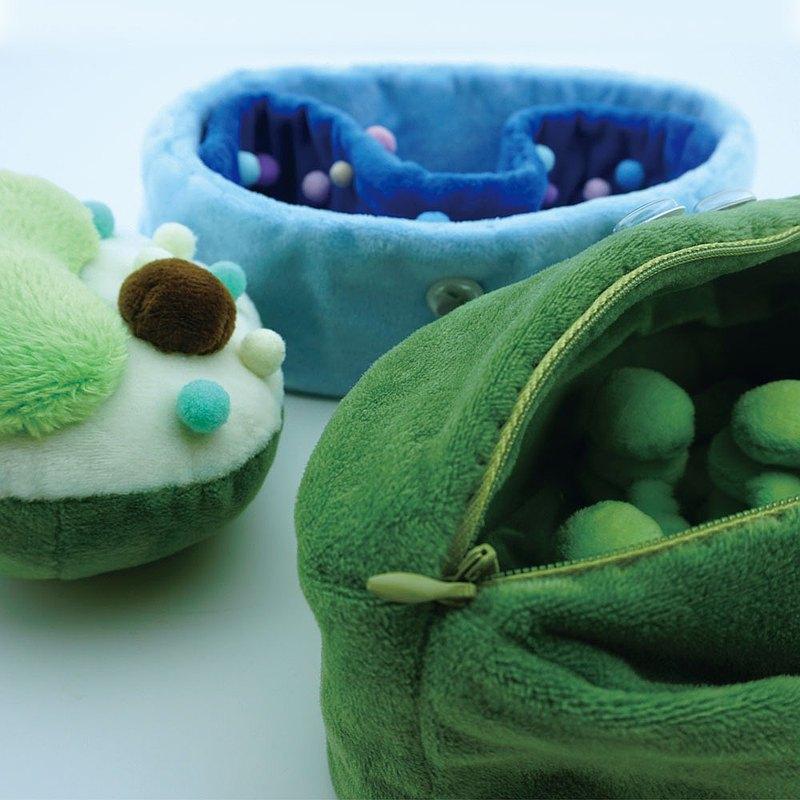 葉綠體收納包 植物細胞玩偶 線粒體收納筐 生物主題毛絨-biooo
