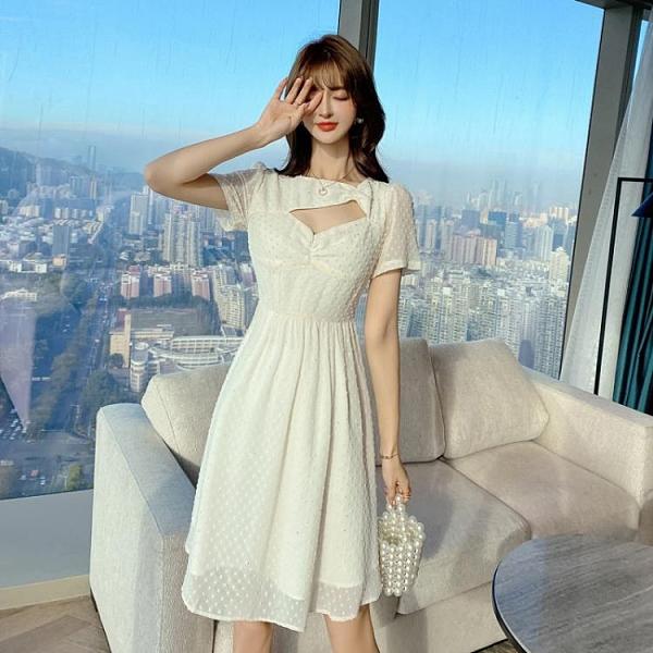 洋裝 連身裙S-XL夏季女裝氣質可鹽可甜a字雪紡裙不規則連身裙T235A紅粉佳人