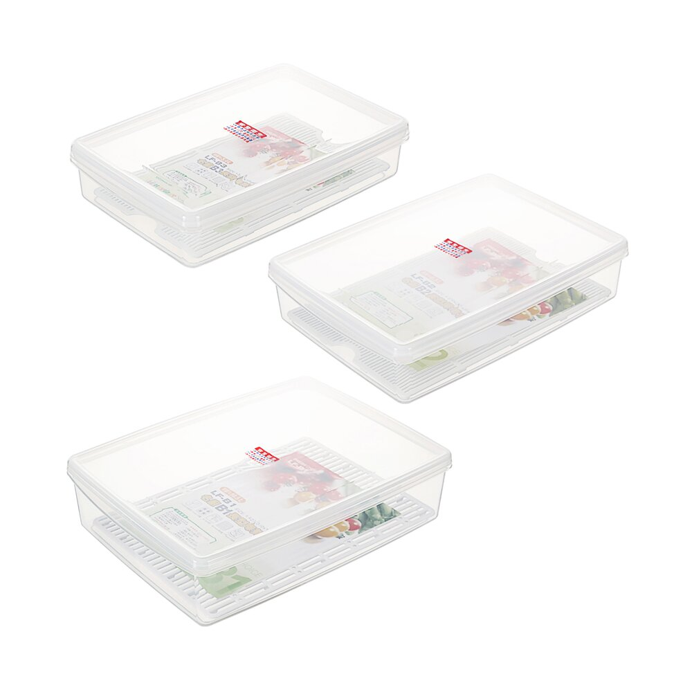 《真心良品》艾樂扁型家庭組保鮮盒-3入組