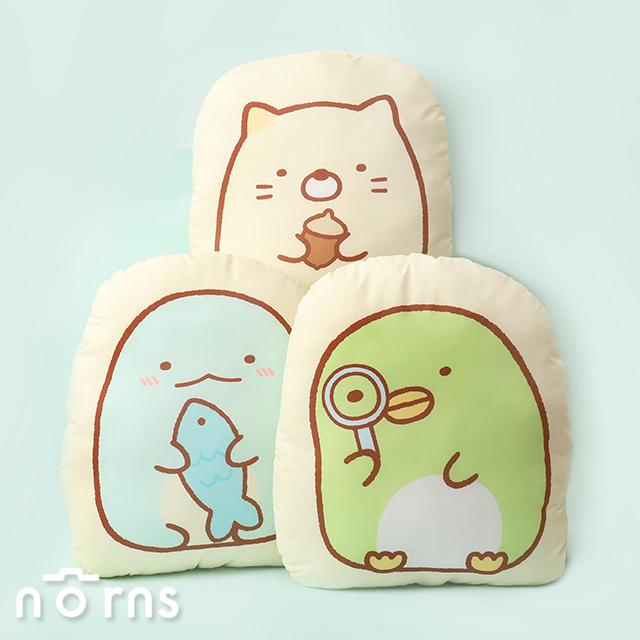 角落小夥伴2D厚抱枕森林篇 磨毛布12吋- Norns 正版授權 靠枕 玩偶 枕頭 炸蝦 貓咪 恐龍