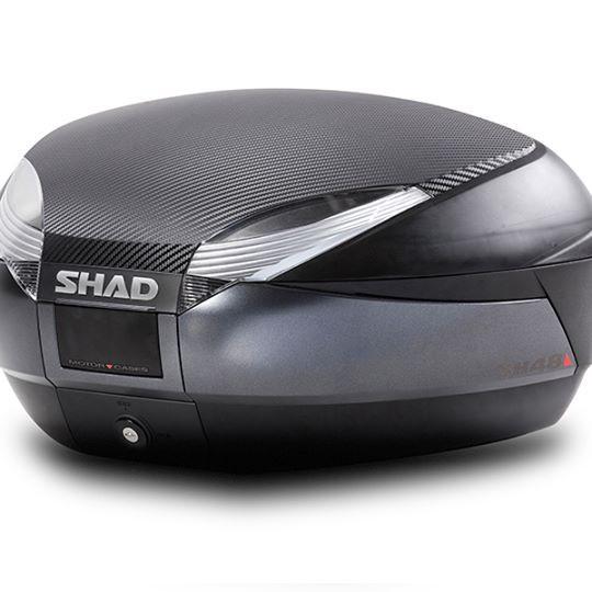 【老虎摩配】 SHAD 夏德 SH48 機車用後行李箱 含上下後靠背 類卡夢上蓋