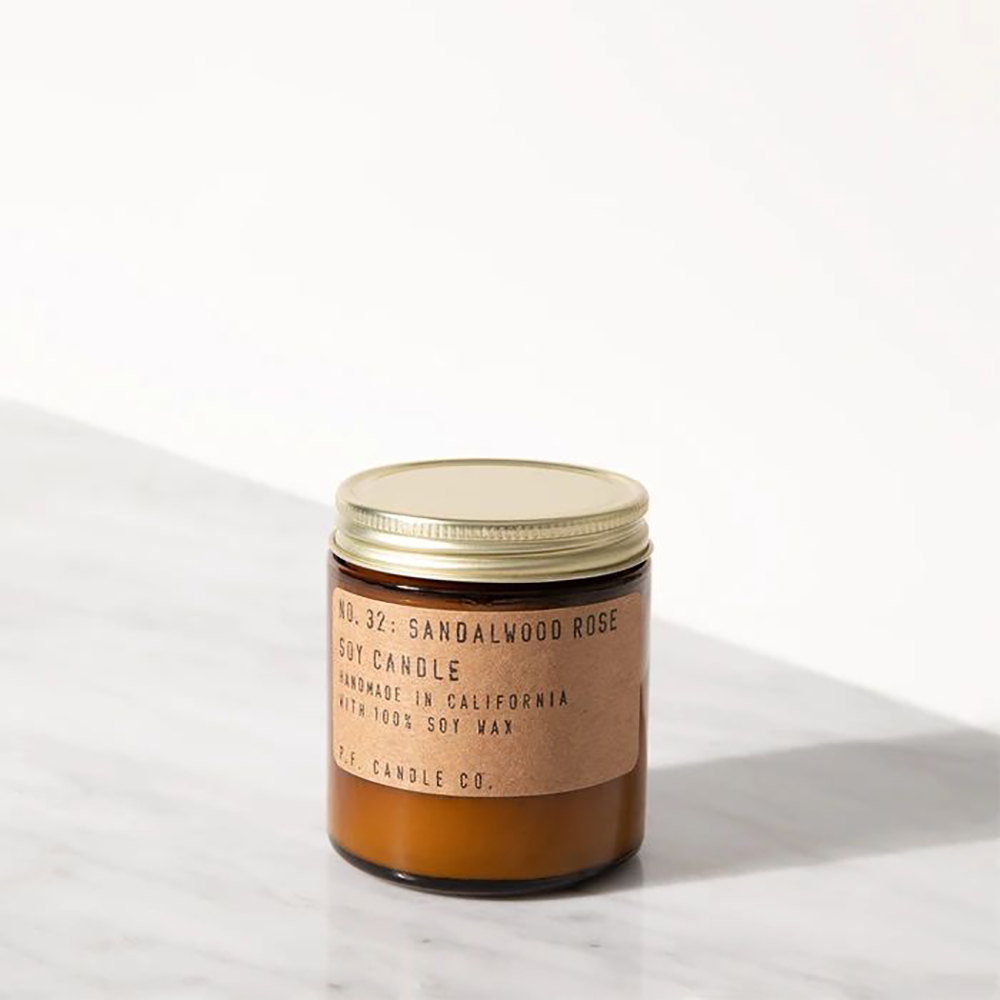 P.F. Candles CO.手工香氛蠟燭 3.5oz 檀香玫瑰 Sandalwood Rose