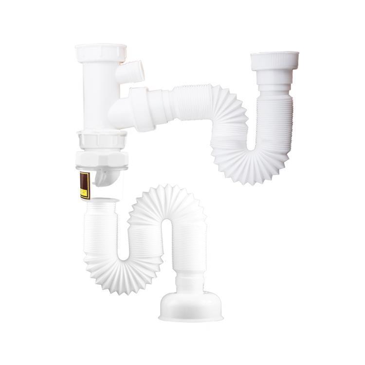 潛水艇洗菜盆下水管廚房水槽雙槽洗碗池排水管道下水器套裝配件/可開超取