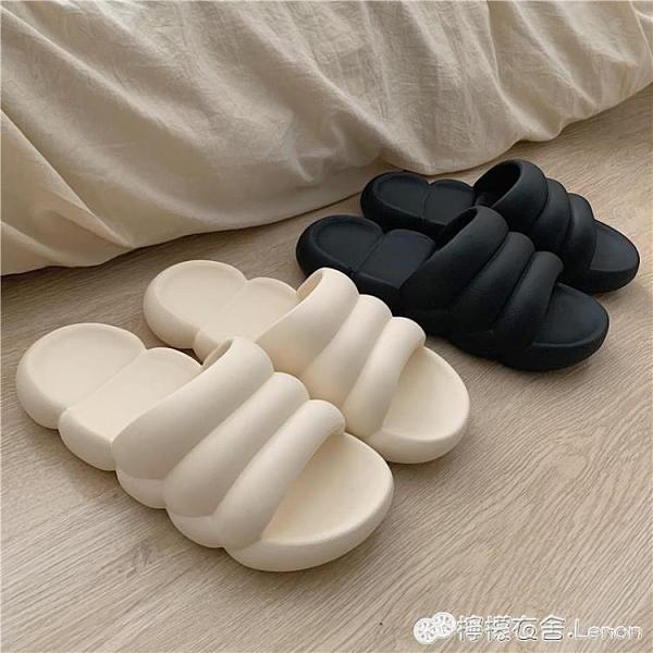 情侶居家拖鞋男女室內家用日式時尚厚底防臭防滑浴室洗澡涼拖鞋夏 檸檬衣舍