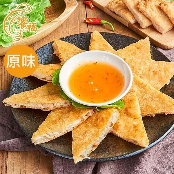 【南紡購物中心】饗福.月亮蝦餅(原味)(5片/盒)