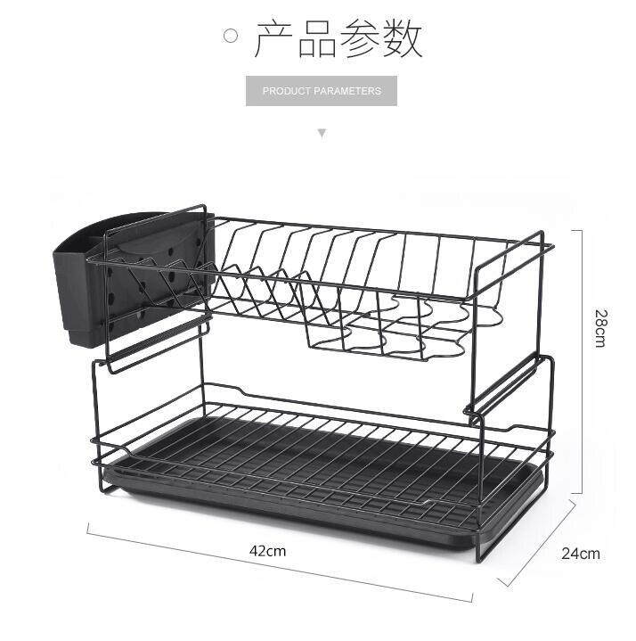 快速出貨 碗碟架瀝水架雙層廚房用品碗盤餐具置物架家用放碗筷收納盒瀝碗架WJ