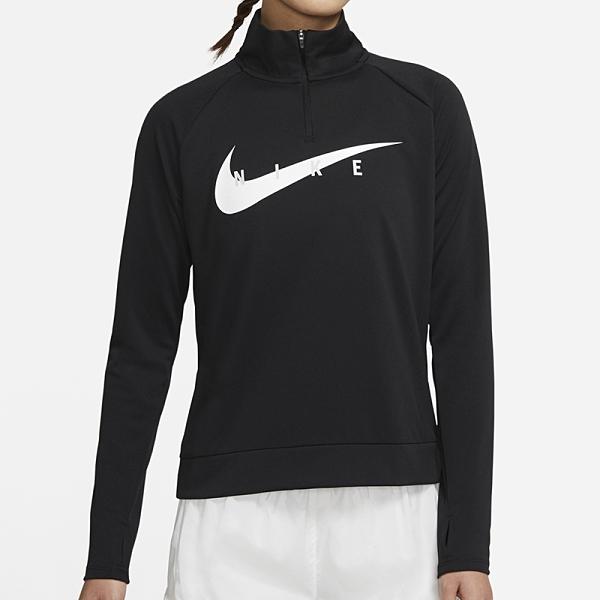 Nike AS W Swoosh Run HZ Midlayer 女 黑 訓練 運動 慢跑 長袖 CZ9234-010