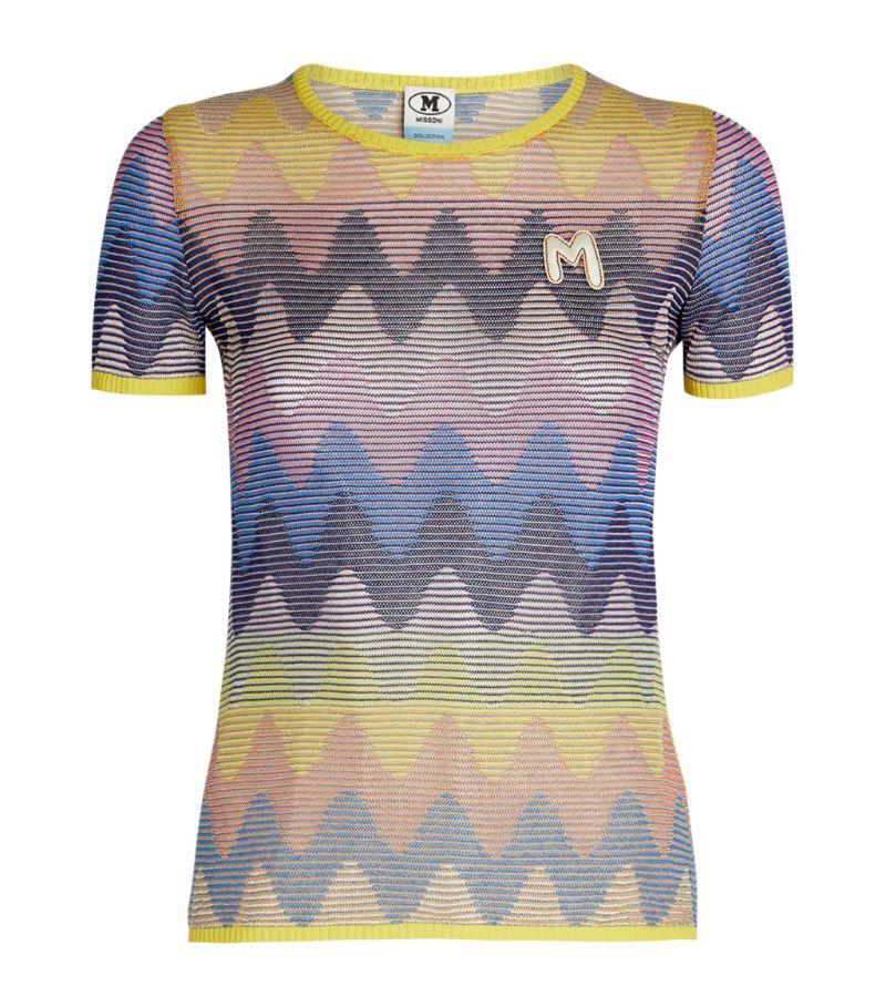 M Missoni Striped Logo T-Shirt