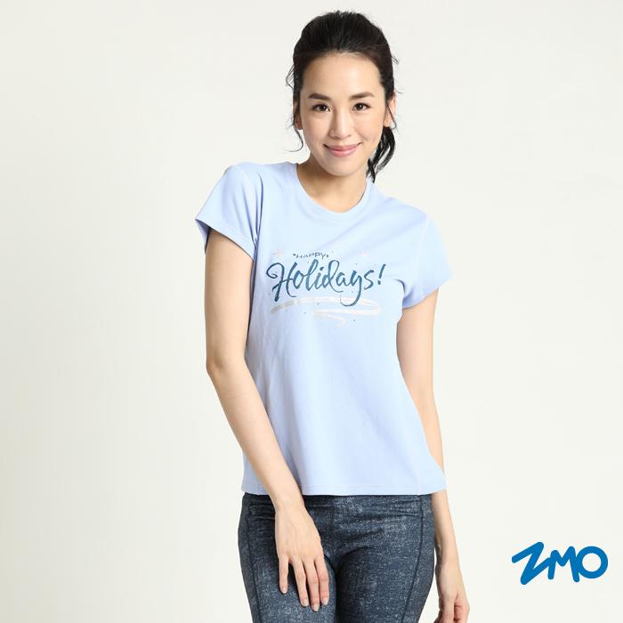 ZMO 女涼感短袖酷涼衣-淺紫藍TX624