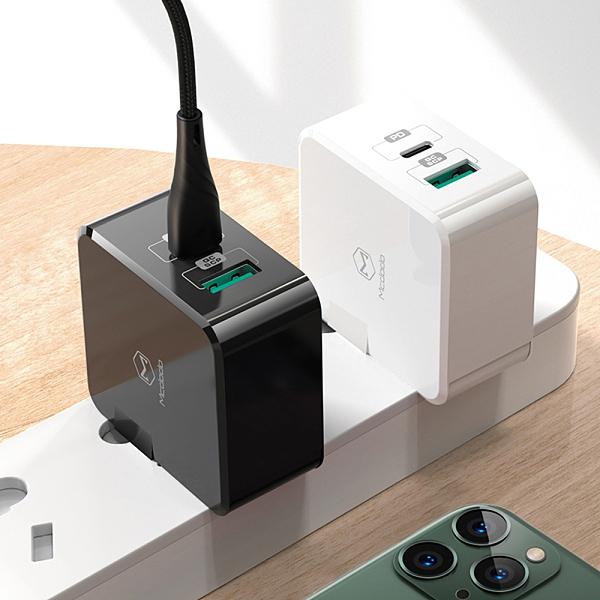 Mcdodo 雙孔PD/Lightning/Type-C/iPhone充電器充電頭快充頭 USB QC 雷霆系列 麥多多