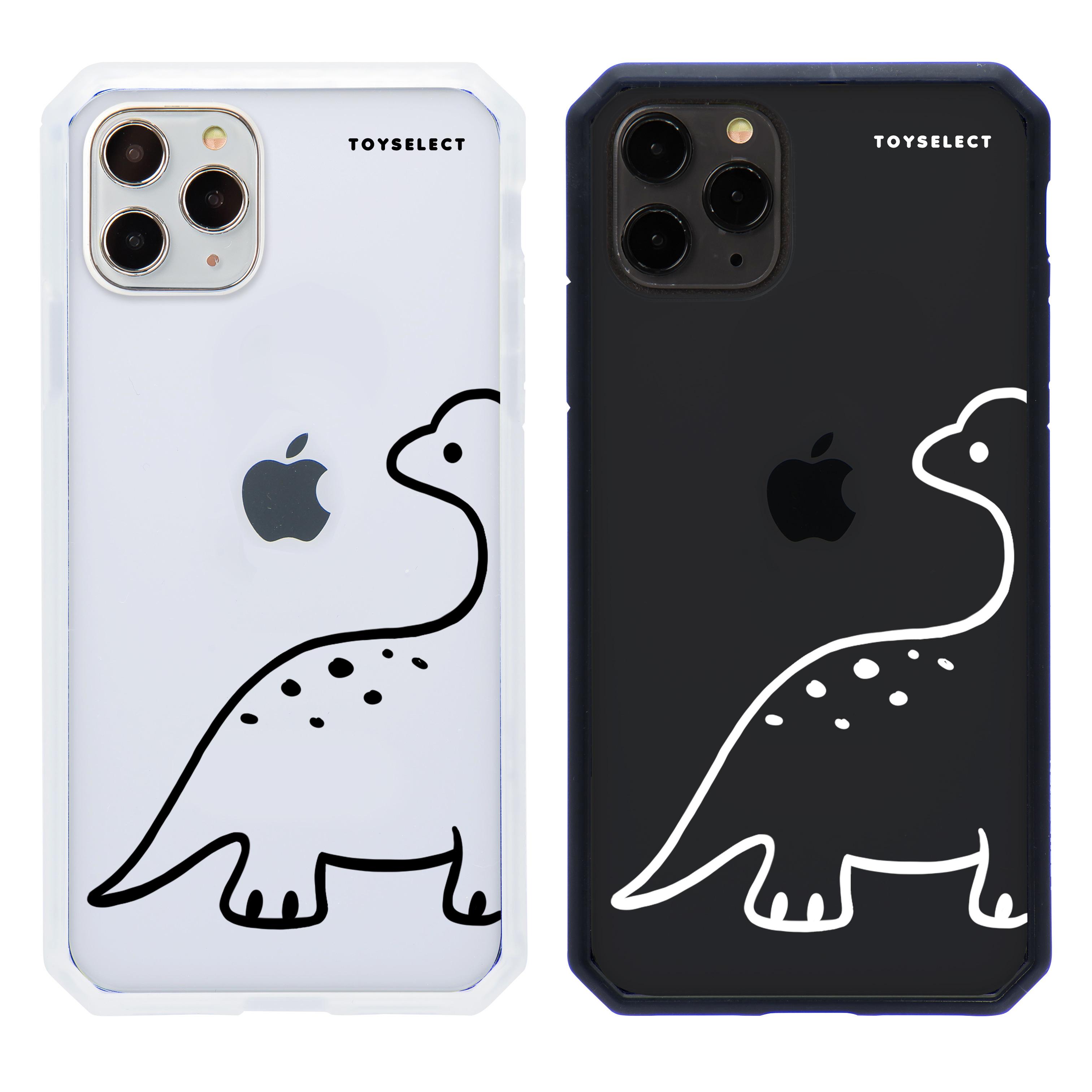 【獨家款】簡約恐龍線條防爆抗摔iPhone手機殼