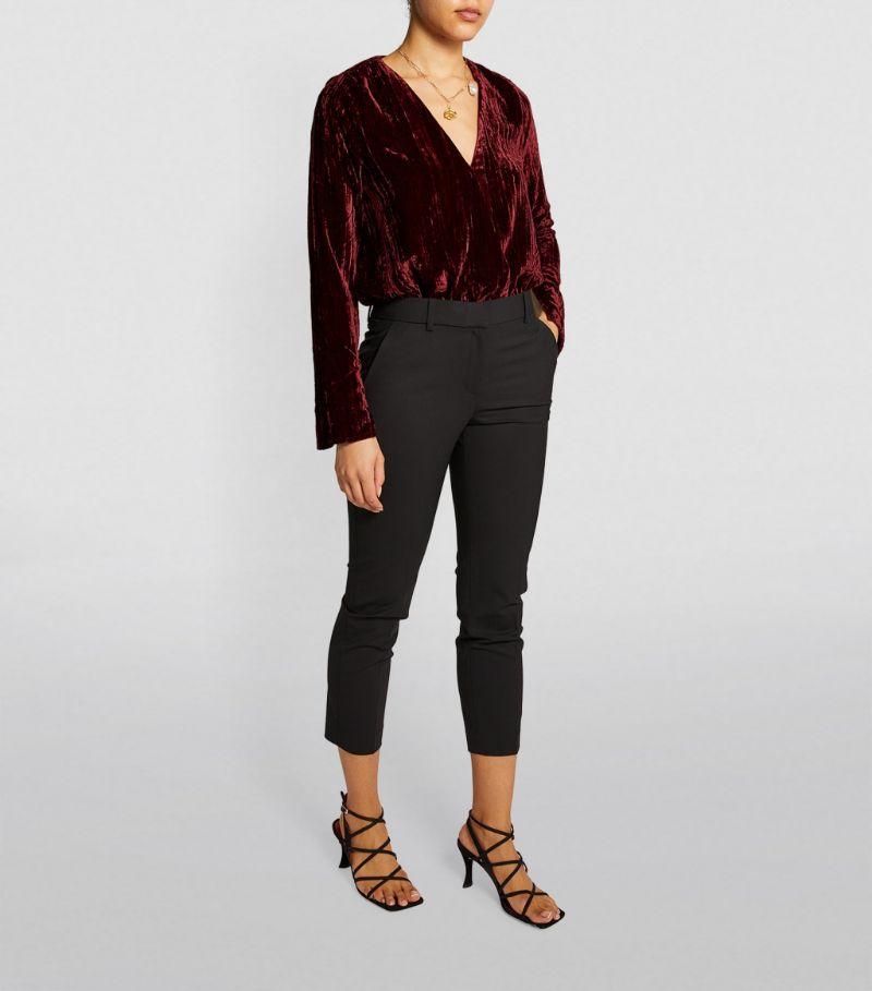 Good American Velvet Wrap Bodysuit