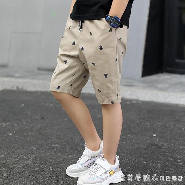 巴拉巴拉男童七分褲夏裝薄款洋氣兒童褲子短褲中大童夏季中褲五分 美眉新品