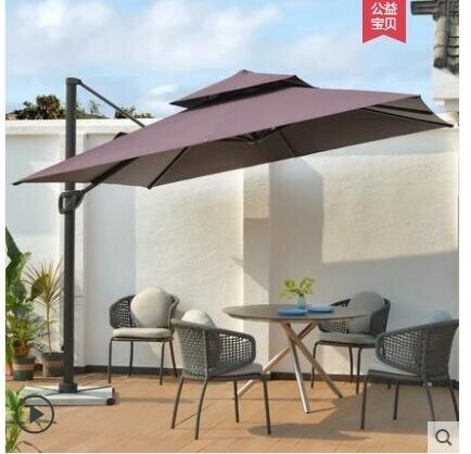 戶外遮陽傘庭院傘花園露台羅馬傘室外大傘擺攤傘四方太陽傘戶外傘