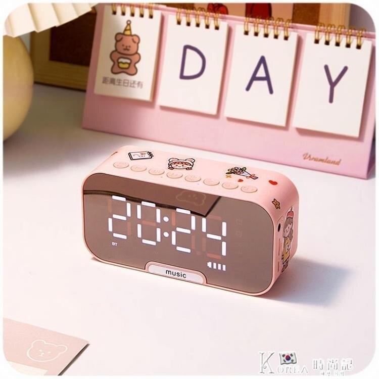 鬧鐘-鬧鐘學生用簡約宿舍小女生可愛臥室床頭靜音夜光北歐風格電子時鐘