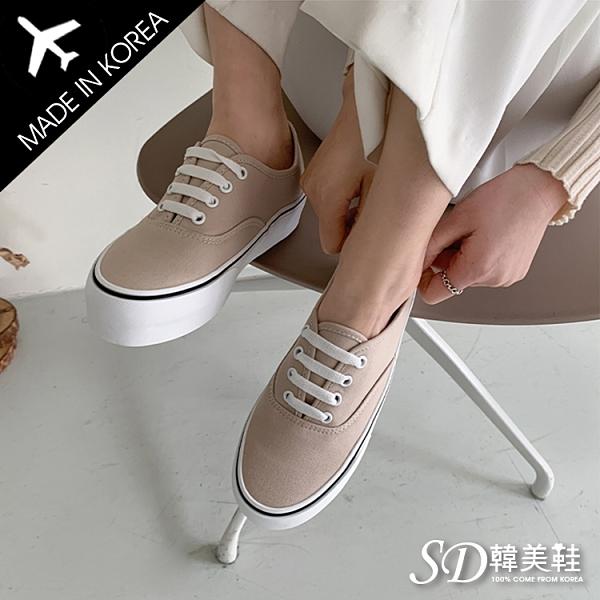 韓國空運 正韓製 嚴選優質帆布 低筒休閒帆布鞋【F713234】版型偏小 / SD韓美鞋