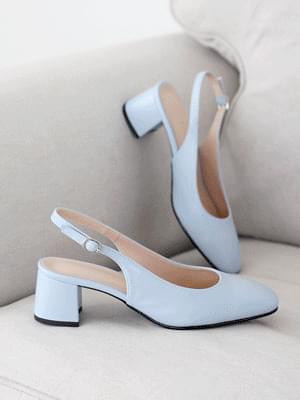 韓國空運 - Perfect Line Slingback Middle Heel Pumps 5cm 跟鞋