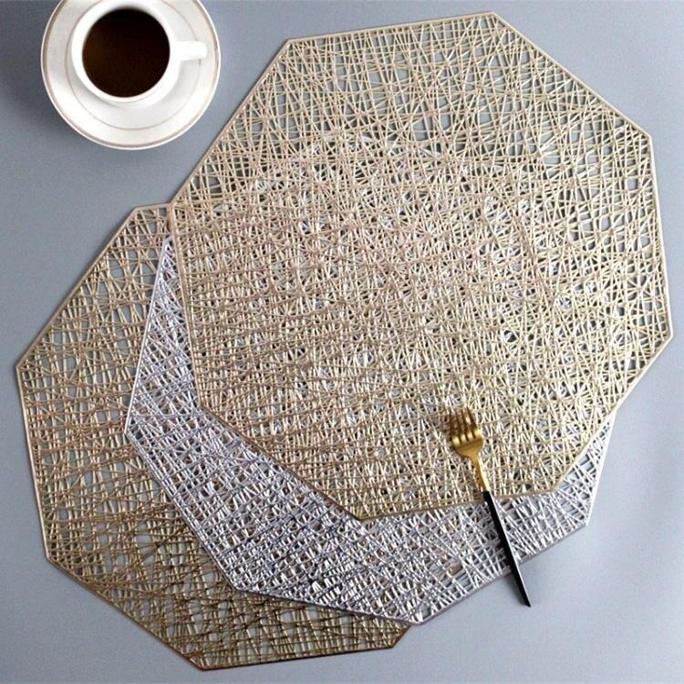 餐墊 餐墊餐墊餐桌墊防燙北歐創意金色大理石裝飾墊家用防滑墊