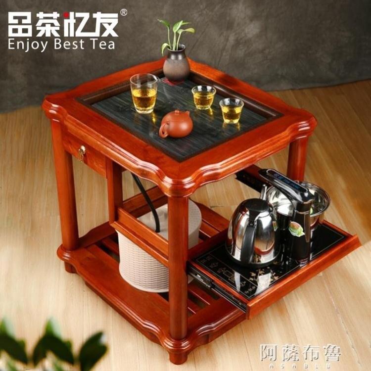 茶具車 茶車花梨木茶桌可移動帶輪整套實木茶盤自動功夫茶具家用小型茶台