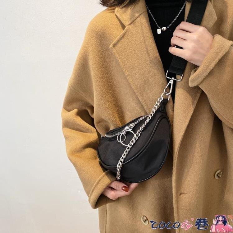 胸包 網紅牛津布包小包包2021新款潮簡約韓版百搭胸包側背斜背包女