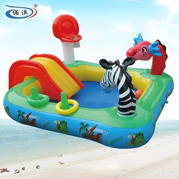 多功能充氣動物戲水池 兒童游泳池 噴水池 全館新品85折