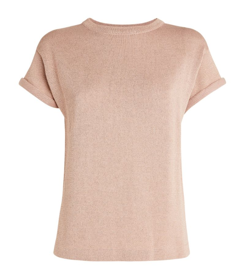 Brunello Cucinelli Knitted Short-Sleeved Top