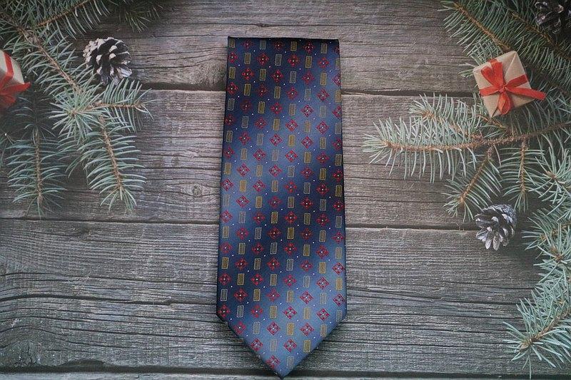 复古花色真丝领带/色织宫廷老花绅士领带