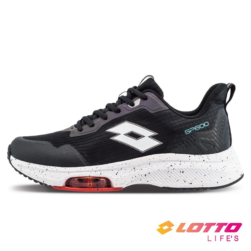 LOTTO 男 SP600 前掌氣墊跑鞋(黑/白-LT1AMR3011)