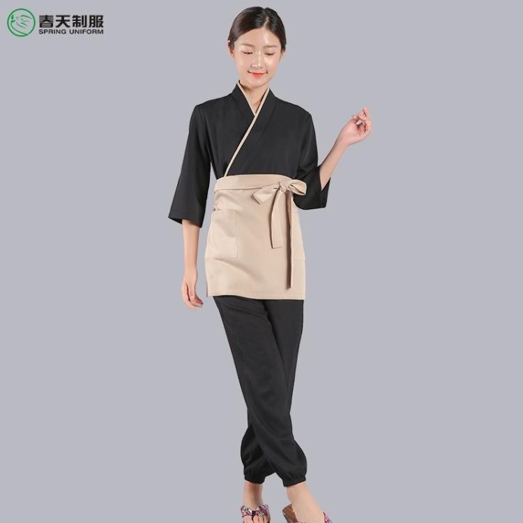 快速出貨 日料工作服 日料店日本餐廳廚房男女服務員工作服壽司店日式和風和服料理服