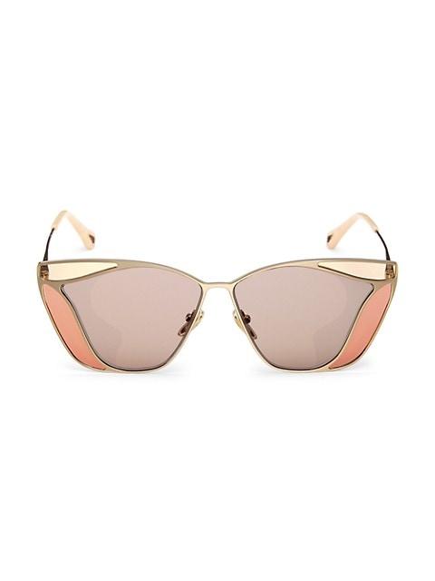 59MM Geometric Sunglasses
