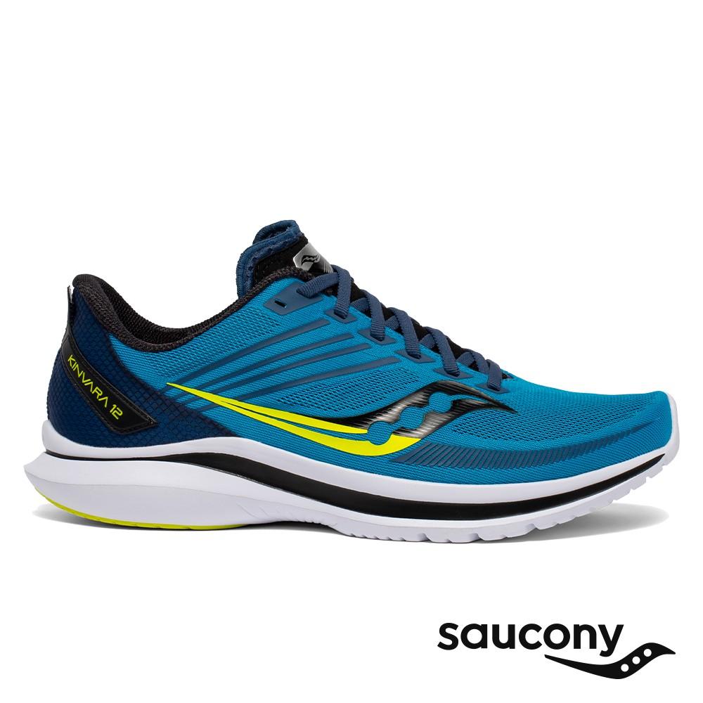 【Saucony】男 KINVARA 12 輕量競速跑鞋(柑橘藍-SCS20619-55)