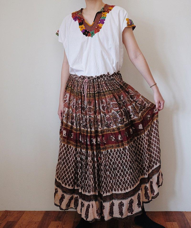 Vintage 印度綁帶嬉皮長裙