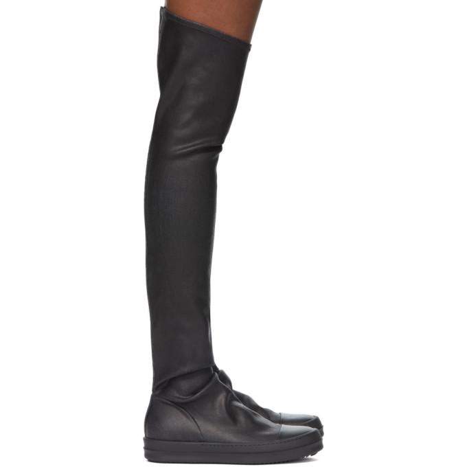 Rick Owens Drkshdw 黑色 Sock 高筒靴