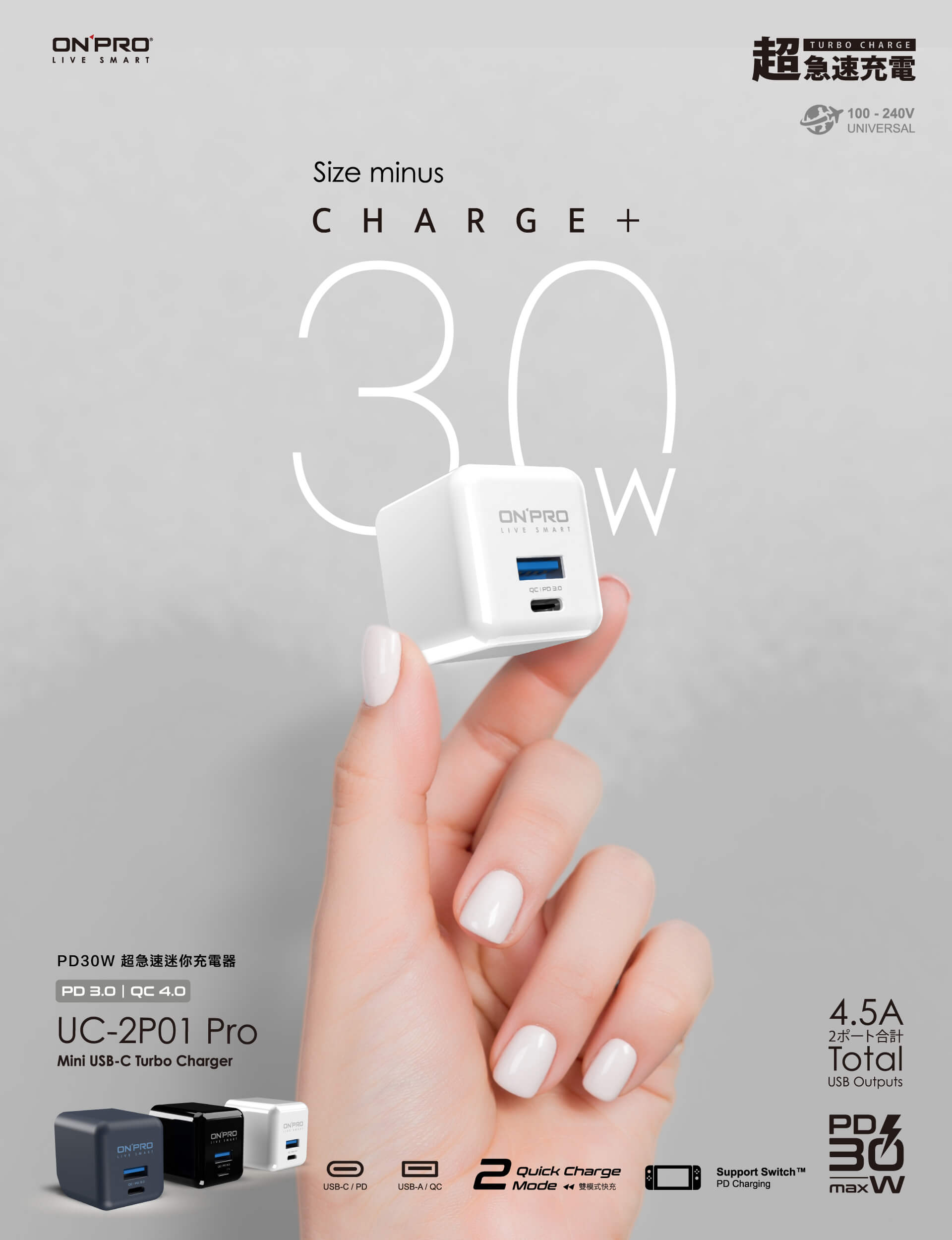 ONPRO UC-2P01 Pro PD 30W 雙孔 充電頭 快充頭 充電器 4.5a 旅充頭 適用 iphone12