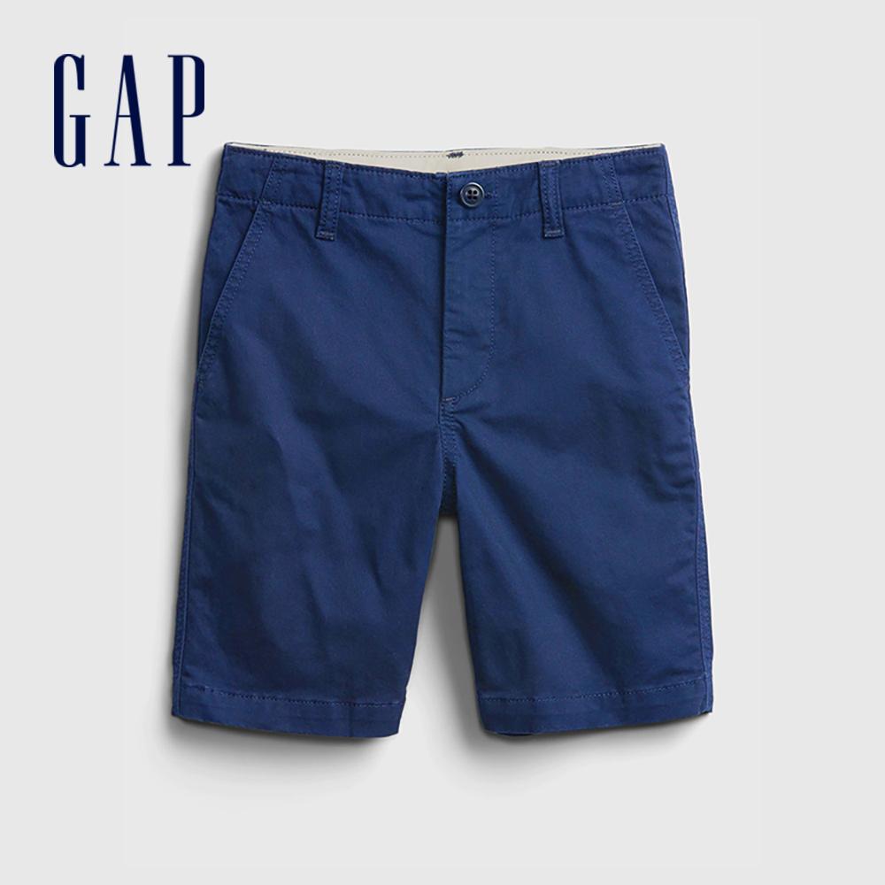 Gap 男童 可愛直筒休閒褲 682043-藍色