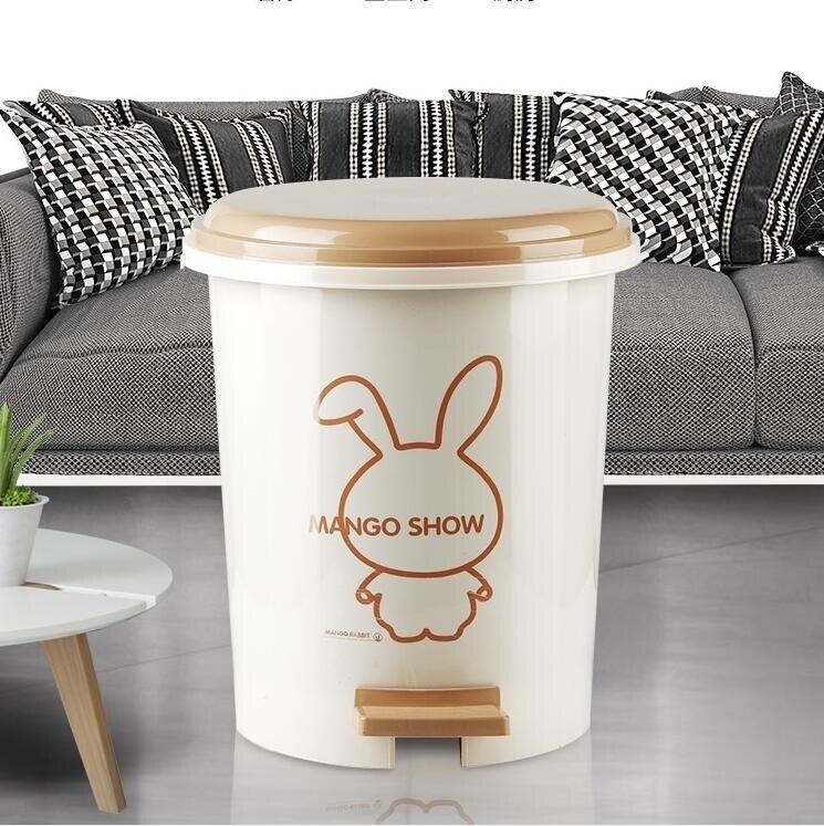 垃圾桶 帶蓋家用廁所衛生間客廳創意腳踩圾垃桶大號廚房有蓋拉極桶