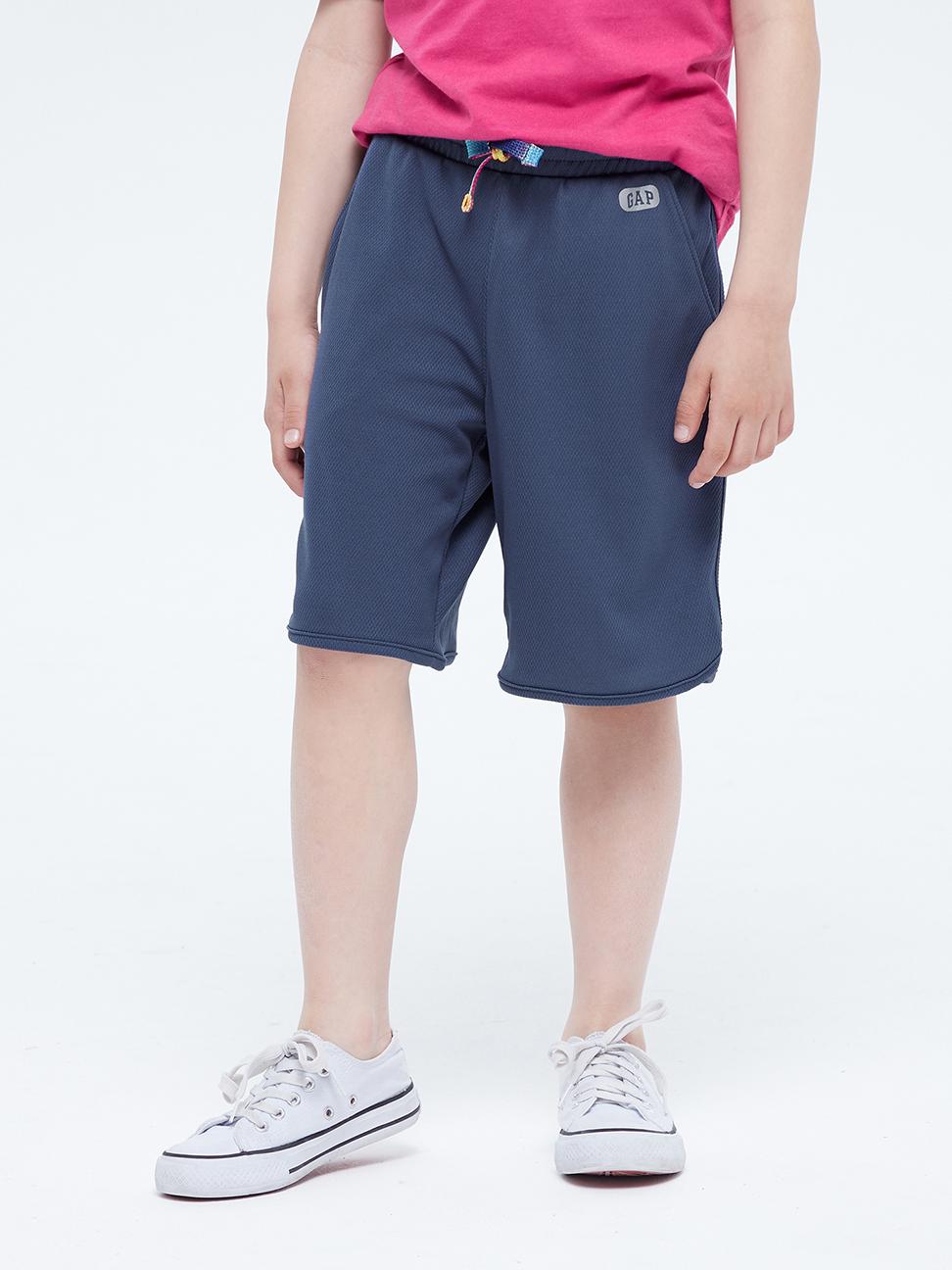 男童 時尚網面繫帶運動短褲