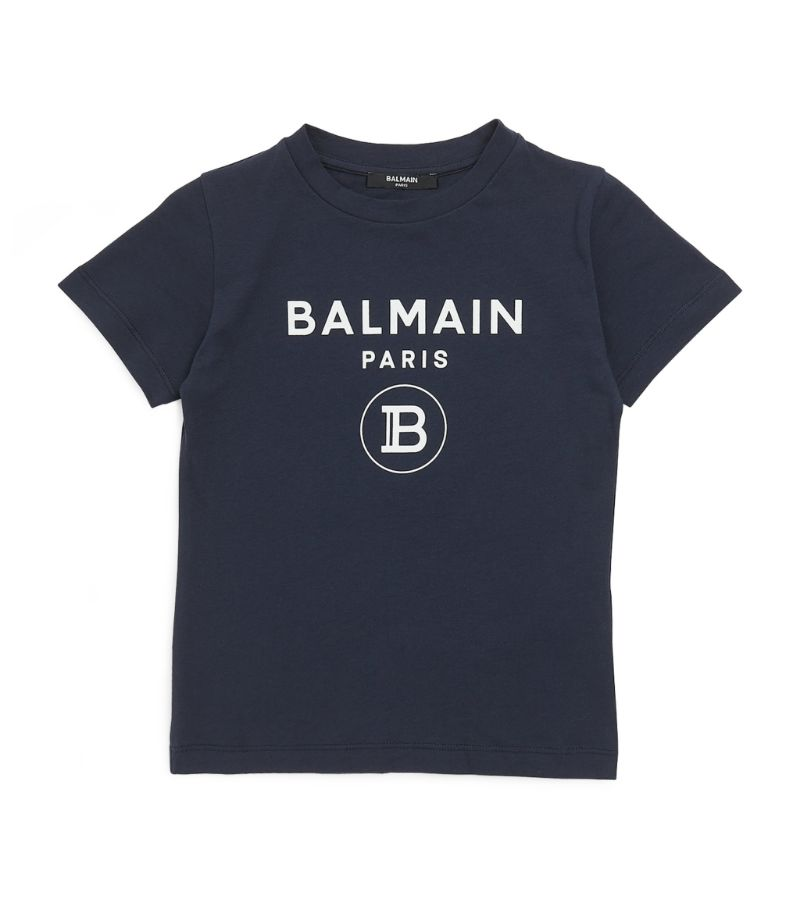 Balmain Kids Cotton Logo T-Shirt (4-16 Years)