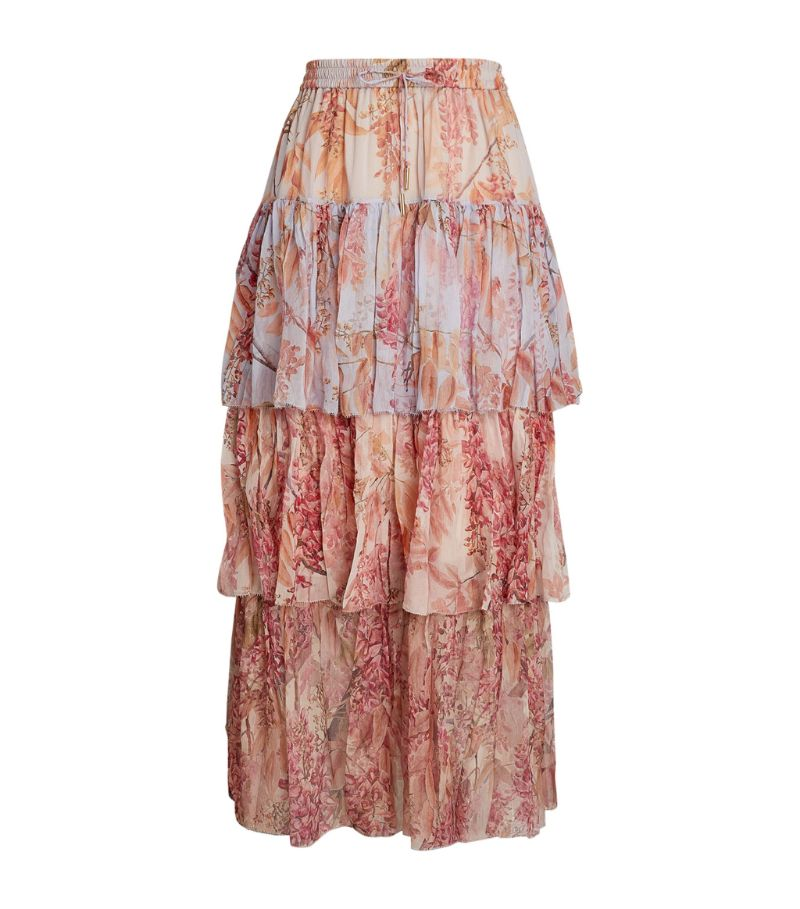 Zimmermann Floral Wild Botanica Midi Skirt