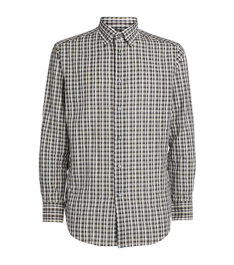 Brioni Check Print Shirt