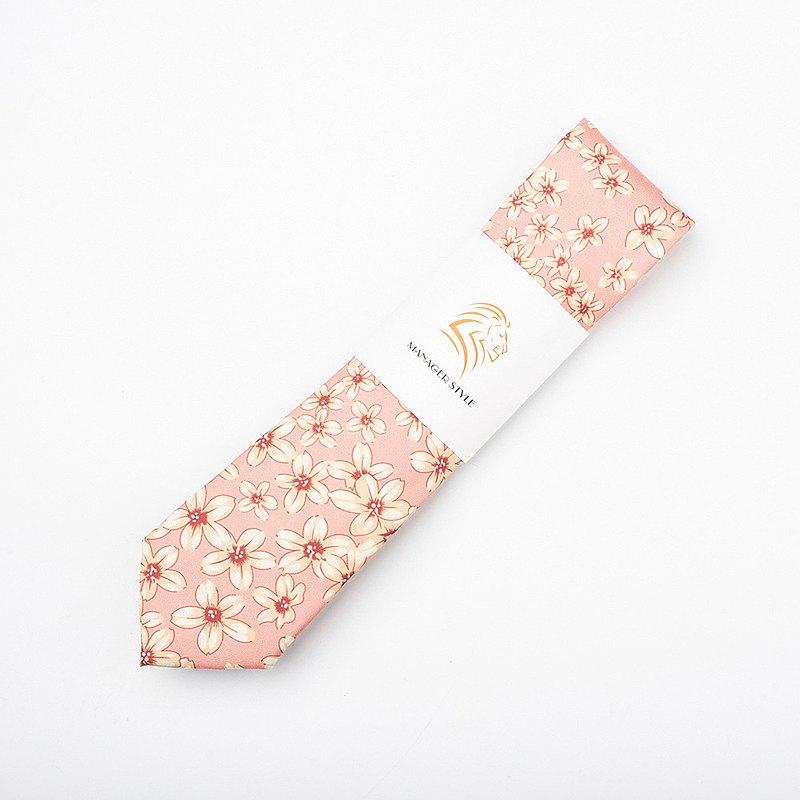 襯衣的犒賞 純棉系列領帶-春暖花開 粉 C0614-18