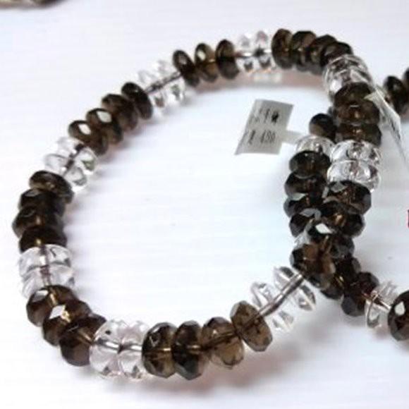『晶鑽水晶』茶晶手鍊 水滴 AA級 鑽石切角度 兩款 禮物 避邪擋煞 穩定情緒 氣質 女生飾品