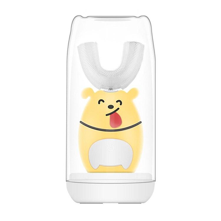 新品 U型兒童電動牙刷超聲波口含式刷牙全自動兒童