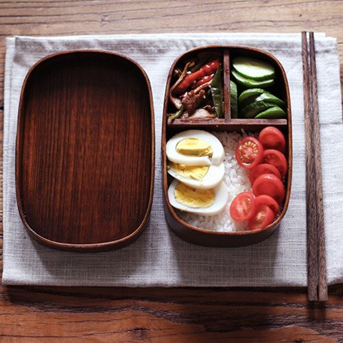 木質飯盒 實木日式便當盒(湘湘