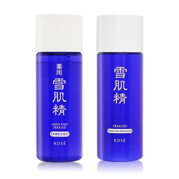 KOSE 高絲 雪肌精旅行輕便組[雪肌精化妝水33ML+雪肌精乳液33ML]-極潤型